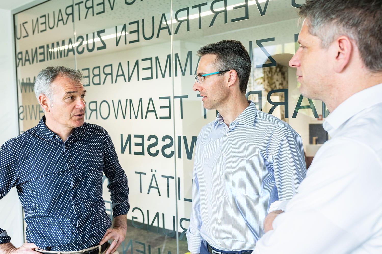 Geschäftsleitung HOFF und Partner im Gespräch
