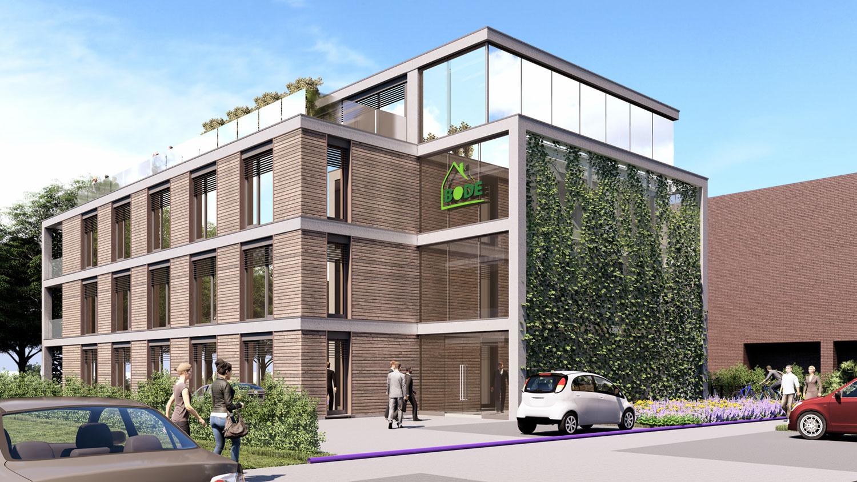 Visu Bürogebäude entworfen HOFF und Partner